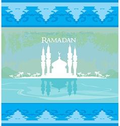 Stylish ramadan kareem card vector