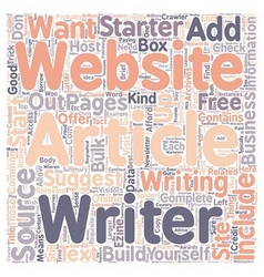 Why You Should Start An Article Website text vector image