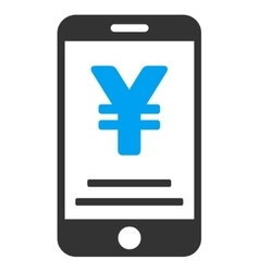 Yen Mobile Payment Flat Icon vector image vector image