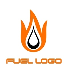 Burning fuel drop vector