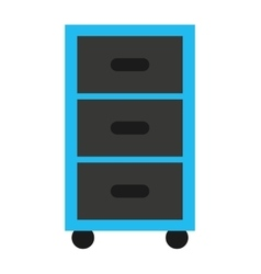 Plastic drawers isolated icon vector