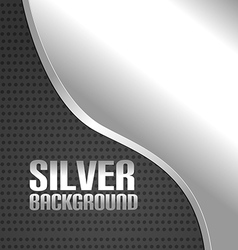 Silver curve metal abstract background vector