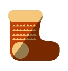 Merry christmas socks isolated icon vector