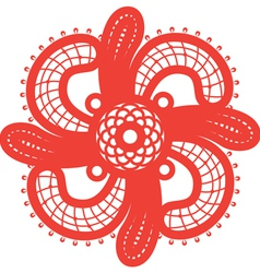 Spiritual swirl cross vector