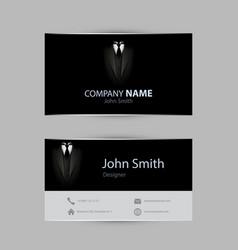 black tuxedo business card vector image