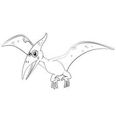 Outline animal for pterosaur vector