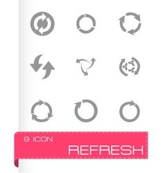 Refresh icons set vector
