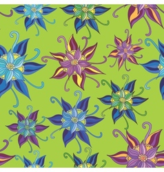 Pattern with spring flowers vector