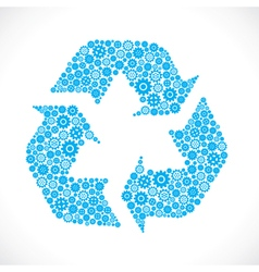 Recycle symbol design with gear stock vector