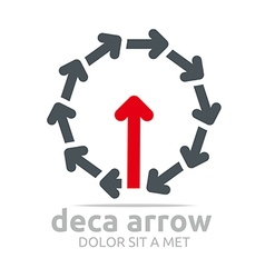 Logo deca arrow design element symbol icon vector