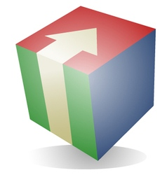 Creative cube vector image