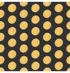 Falling coins seamless pattern vector