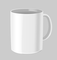 Cafe Mug Mock up White Isolate vector image