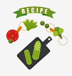Cooking recipe design vector