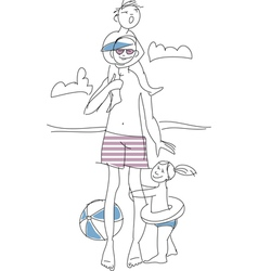 Summer family vector