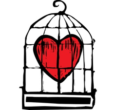 Heart in cage vector