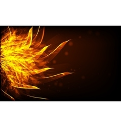 Cover background with abstract fire vector
