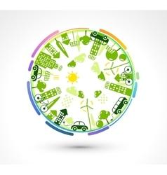 Green Eco Planet vector image