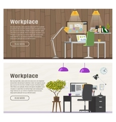 Two horizontal banner for web design vector