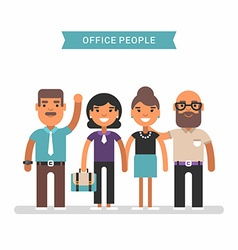 Office people in casual wear colored flat isolated vector