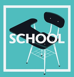 Blue School Banner vector image