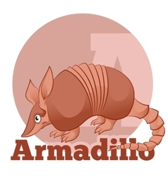 Abc cartoon armadillo2 vector