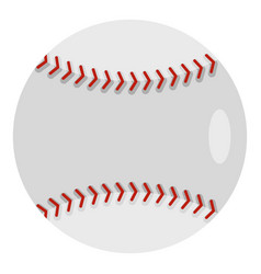 Ball for playing baseball icon isolated vector