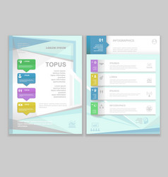 Brochure Flyer design Layout template vector image vector image