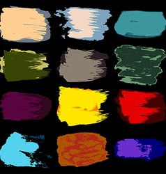 brush stroke stain paint acrylic hand drawing vector image