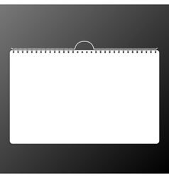 Calendar sheet of paper on a black background vector