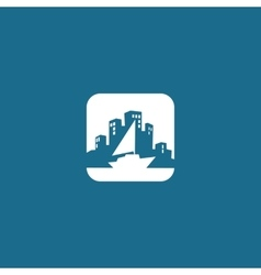 City logo design template yacht vector
