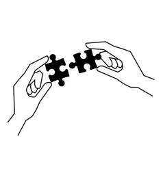 Connecting the pieces vector image