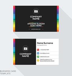 Creative Business Card Template Flat Design vector image