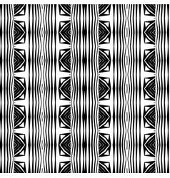 Design seamless monochrome stripy pattern vector