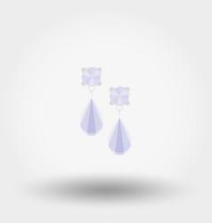 earrings icon flat vector image vector image