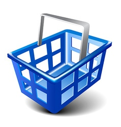 empty basket icon vector image