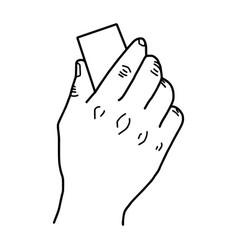 Hand using blackboard eraser vector