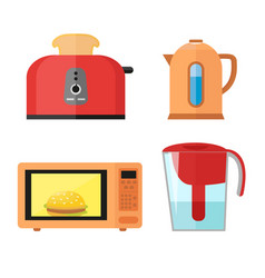 kitchen equipment set isolated on a white vector image vector image