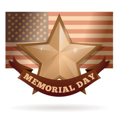 Memorial day card design vector
