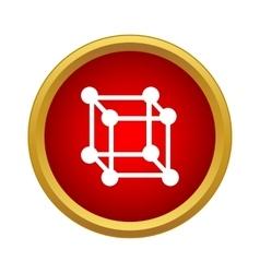 Molecular cube icon simple style vector