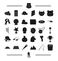 Movie reward animal and other web icon in black vector
