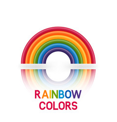 Rainbow symbol six colors vector