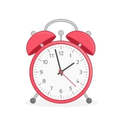 Red wake up clock vector