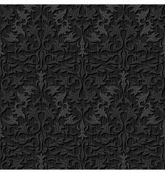 seamless black silk wallpaper pattern vector image
