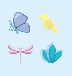 set of natural and ecology icons design vector image vector image