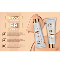 skin toner cosmetic products ad 3d vector image