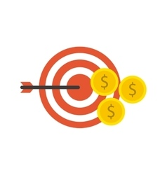 target arrow with business icon vector image