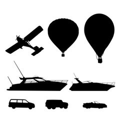 Transport silhouette vector image