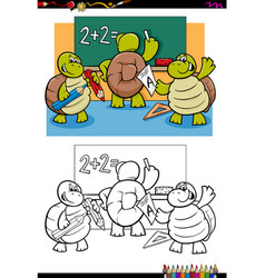 turtles pupil characters coloring book vector image vector image