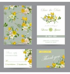 Wedding Invitation Congratulation Card Set vector image